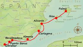 Spanish Sailing Itinerary